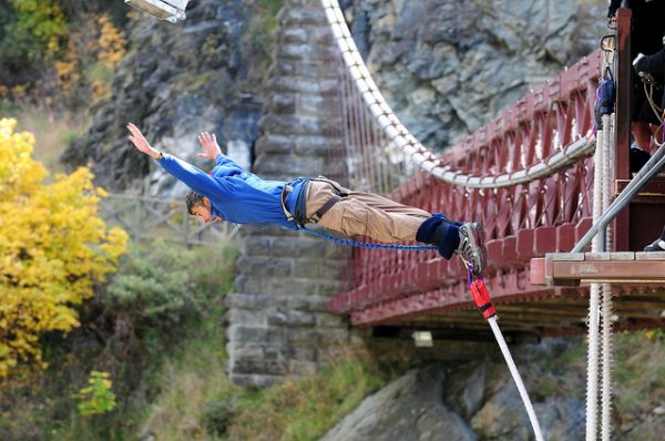 Bungy jumping wanaka activities
