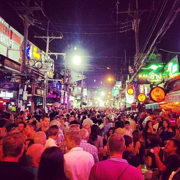 Night out in Phuket. So crowded. Much fun.
