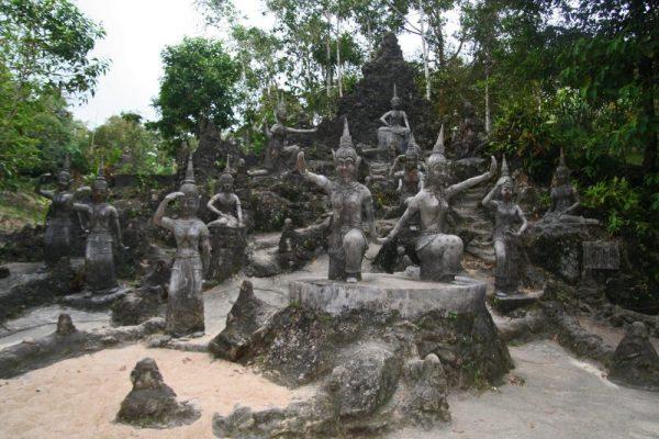 The secret Buddha Garden Koh Samui