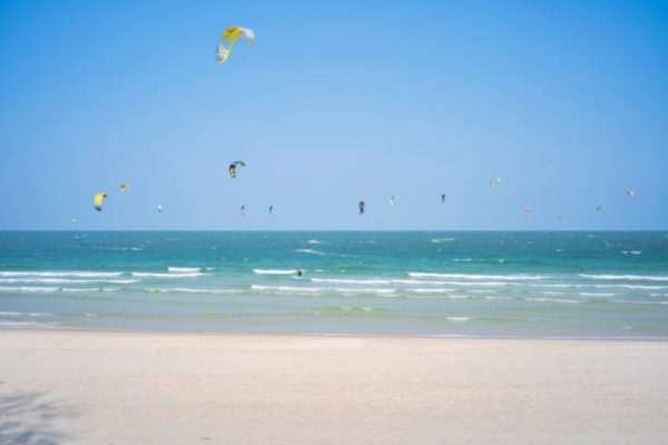 kite surfing in hua hin with kids